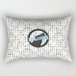 NUGaming Icon Print (Coloured) Rectangular Pillow