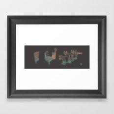 3 variations Framed Art Print
