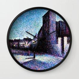 12,000pixel-500dpi - Maximilien Luce - Rue Ravignan, Paris - Digital Remastered Edition Wall Clock