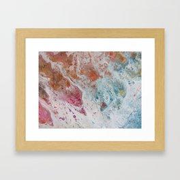 WHITE WASH   Fluid abstract art by Natalie Burnett Art Framed Art Print