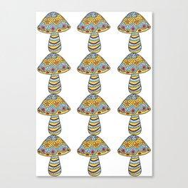 Many Many Mushrooms (3) Canvas Print