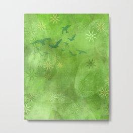 Green Summer Grass Metal Print