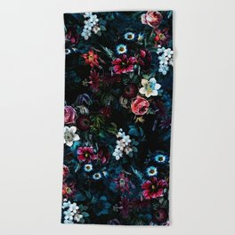 NIGHT GARDEN XI Beach Towel