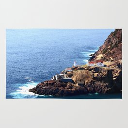 Newfoundland Canadian National Historical Site Fort Amherst and WWII bunkers Rug