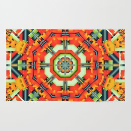 Colourful Geometric Abstract Rug
