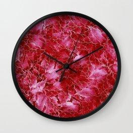 Frozen Leaves 24 Wall Clock