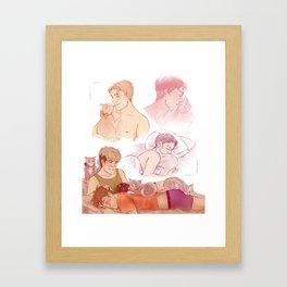 Boyfriends & Cats Framed Art Print