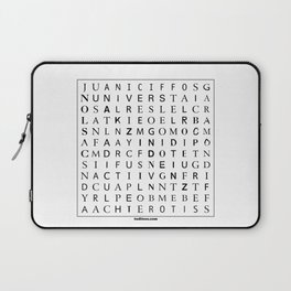 Typographic word search puzzle Laptop Sleeve