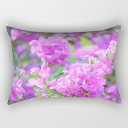 Purple Flowers in the Garden/ Floral/ Summer Sun Rectangular Pillow