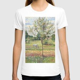 "Camille Pissarro ""Le pré avec cheval gris, Eragny""(""The meadow with gray horse, Eragny"") T-shirt"