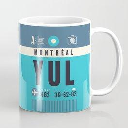 Baggage Tag A - YUL Montreal Canada Coffee Mug