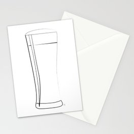 """"""" Kitchen Collection """" - Glass Of Beer Stationery Cards"""