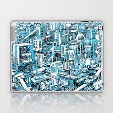 City Machine - Blue Laptop & iPad Skin