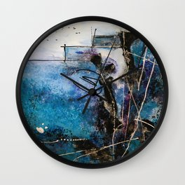 Midnight Sky, Acrylic artwork Wall Clock