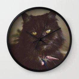Kitty Meow Wall Clock