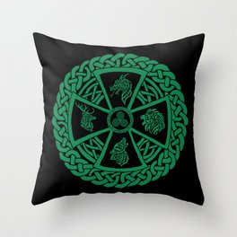 Celtic Nature 2 Throw Pillow