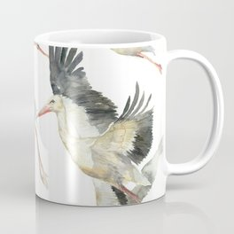 Storks Flying Away, The Last Day of Summer, Flock of Birds Coffee Mug