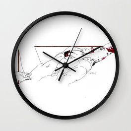 Nudegrafia - 005 fingering Wall Clock