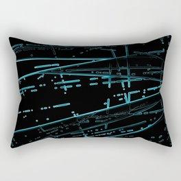 Neon Dance Rectangular Pillow
