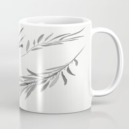 Eucalyptus leaves black and white Coffee Mug