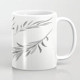 Eucalyptus leaves black and white Coffee Mug