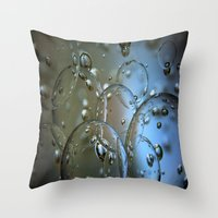 jewish Throw Pillows featuring Voir le beau verre  by Brown Eyed Lady