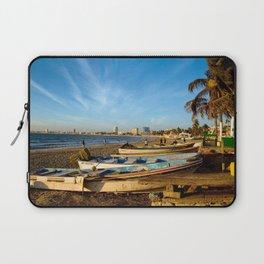 Mazatlan Beach & Boats Laptop Sleeve