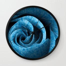 Arctic Rose Wall Clock