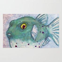 Friendly Fugu (Original Green) Rug