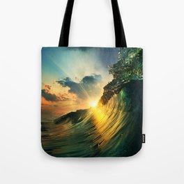 Beach - Waves - Sunset - Clouds - Sundown Tote Bag