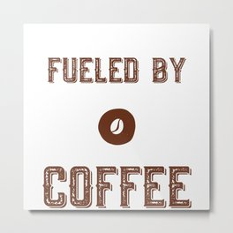 Photographer Fueled By Coffee Caffeine Metal Print