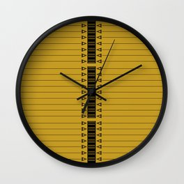 The Lodge (Gold) Wall Clock