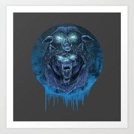 Wolf in a Sheep's Clothing Art Print