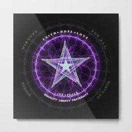 Light Star of Virtues Metal Print