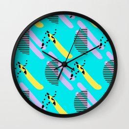Abstract geometric print Wall Clock