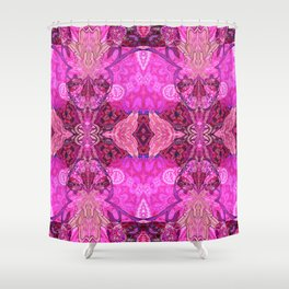 Royal Bojee Boho Magenta Queen Shower Curtain