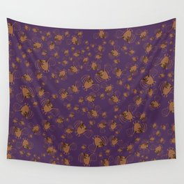 Adorable bats for Halloween (Purple) Wall Tapestry