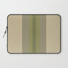 Stripes: Soybean, Moss, and Pepper Stem Green Laptop Sleeve