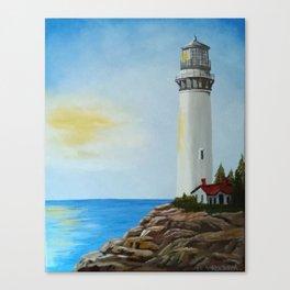 Sunny Lighthouse Canvas Print