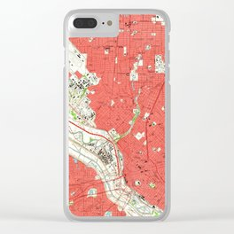 Vintage Map of Dallas Texas (1958) 2 Clear iPhone Case