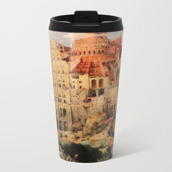 The Tower of Babel by Pieter Bruegel the Elder  Metal Travel Mug