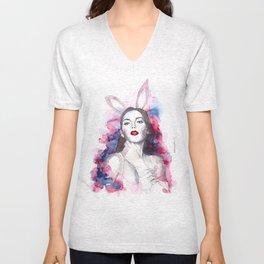 Redlip bunny Unisex V-Neck