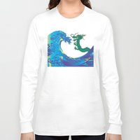 hokusai Long Sleeve T-shirts featuring Hokusai Rainbow & Dragon by FACTORIE