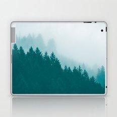 Fog Forest - Green Mountain Fog Laptop & iPad Skin