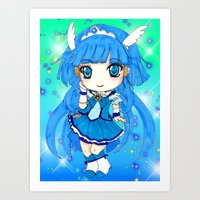the cure Art Prints featuring Cure Beauty by Nina Dessinatrice