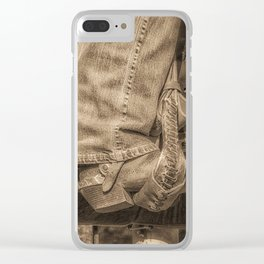 Cowgirl Up Clear iPhone Case