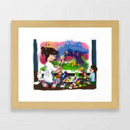 Tiny Apprentice: Artist Framed Art Print