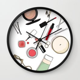 Beauty Routine Wall Clock