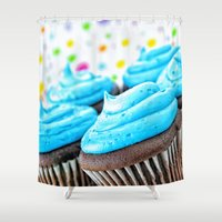 cupcakes Shower Curtains featuring Cupcakes by ThePhotoGuyDarren