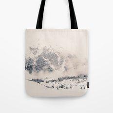 White Winter Mountains In Snow Tote Bag
